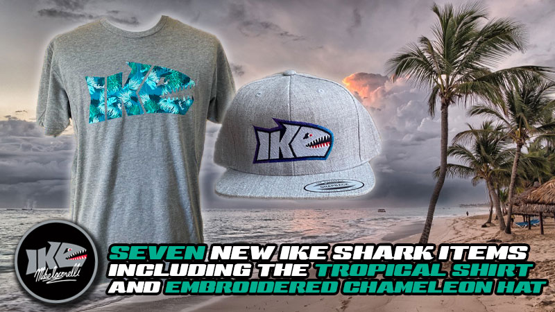 New Ike Shark Logo Shirts and Hats